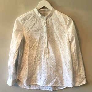 Madewell cotton daisy blouse